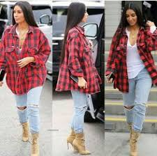 todays look details flannel levi jeans boots kanye west x jacob co