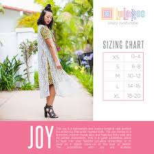 Lularoe Monroe Size Chart Sizing Closer To The Heart Creations