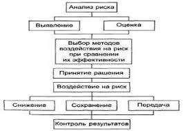 Общая схема процесса управления риском Рефераты Рис 1 Общая схема процесса управления риском