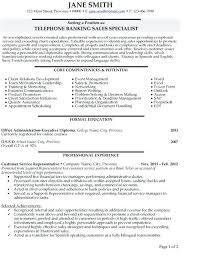 Banking Customer Service Resume Customer Service Resume Sample