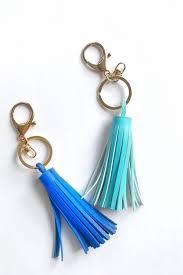 diy a one minute stylish leather tassel keychain