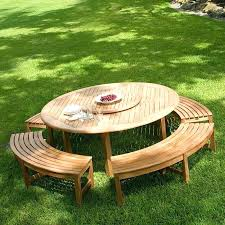 round picnic table with benches round picnic table with benches picnic table designs plans and ideas