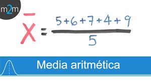 Resultado de imagen de la media estadistica formula