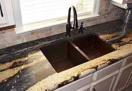 hammered copper kitchen sinks