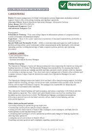 Construction Operation Manager Resume Senior Operations Manager Job Duties Business Description