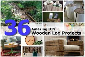 Log Crafts 36 Amazing Diy Wooden Log Projects