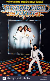 Bee Gees & John Travolta on the Double Album Sleeve Cover of Saturday Night  Fever by RSO Records Stock Photo - Alamy