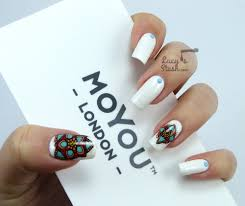 Colourful Stamping Decals Nail Art feat. MoYou London - Lucy's Stash