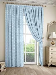 Купить комплект штор «Дрош (голубой). Подшит: 247 см» синий ...