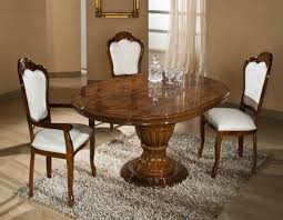 Italian Dining Tables Elizabeth Round Extendable Dining Table Made In Italy