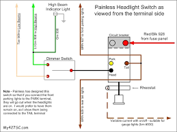 headlight dimmer switch wiring diagram painless exceptional painless wiring headlight switch wiring diagram at Painless Wiring Schematic