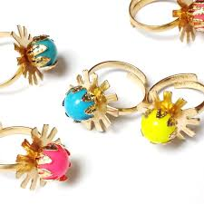 Vending Machine Filler Beauteous 48 Metal Gold Girl Gem RINGS 48 VENDING MACHINE TOYS Pinata Bag