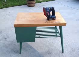 modern painted furniture. Mid Century Modern End Table Painted Furniture I