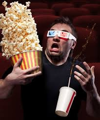 Image result for eating popcorn and drinking watching a good movie