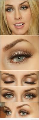 brown eye makeup for blue eyes and blonde hair you