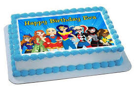 superhero sheet cake dc superhero girls edible cake topper cupcake toppers edible