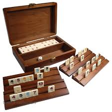 Board Games In Wooden Box Tracy Travel Rummy Tile Board Game in Wood Case with Wooden Racks 48