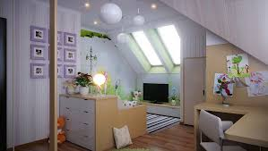 contemporary attic bedroom ideas displaying cool. Ideas. Nice-Looking Modern Teenage Low Ceiling Attic Bedroom Design Displaying Soft Purple Wall Contemporary Ideas Cool F