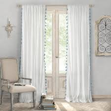Single window curtain Rideau Polyester Single Rod Pocket Window Curtain Panel In Blue Home Depot Elrene Bianca 52 In 84 In Polyester Single Rod Pocket Window