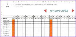 Attendance Calendar Template Employee Printable Excel