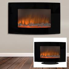 com best choice s large 1500w heat adjule electric wall mount free standing fireplace heater with glass xl home kitchen