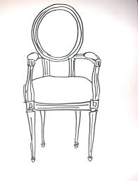 chair drawing. saatchi art: chair louis xiv drawing by sue karnet chair