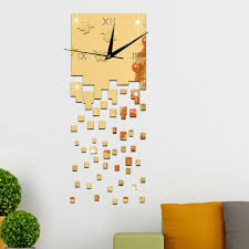 diy office wall decor. Art Office Wall Decoration Time Flies Square Watch Relogio Digital Reloj Mural DIY Home Decor Diy E