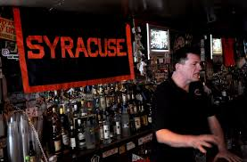 syracuse fans packed the irish pub near madison square garden before during and after for decades