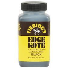 Fiebings Water Resistant Leather Edge Kote Color Coating 4 Oz Light Brown