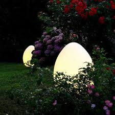 image of outdoor solar lights oval
