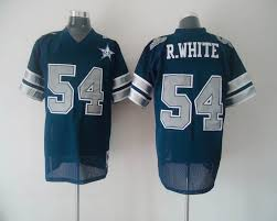 25th Nfl With Patch white Top In Quality Stitched Discount Jerseys R Mitchell 54 amp; Cowboys Blue Throwback Sale Ness Big