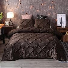 lovinsunshine brown duvet cover flower queen king bedding set comforter cover double bed linen bedclothes solid bedding set fl bedding sets duvet covers