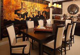 dining room furniture styles. Stunning Print On The Wall Creates Perfect Background For A Chinese Style Dining Room [ Furniture Styles S