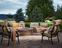 stamped concrete patio with fire pit cost. Stamped Concrete Vs Interlocking Pavers Patio With Fire Pit Cost M