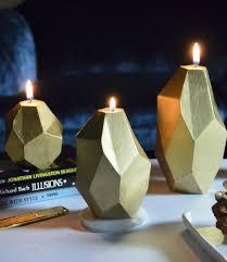 geometric candles gold  designer candles  shop
