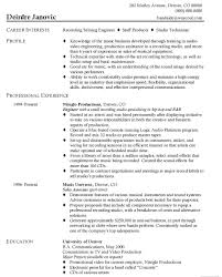 Production Engineer Resume Format It Resume Cover Letter Sample