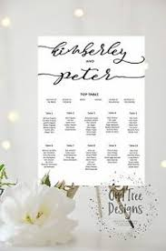 Wedding Table Seating Chart Details About Personalised Wedding Table Plan Seating Chart A3 A2 A1