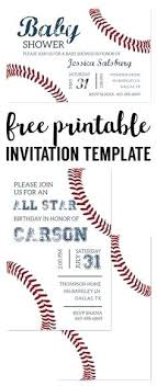 Baseball Ticket Party Invitation Template Free – Medizen