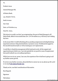 General Manager Job Resignation Letter | Templatezet