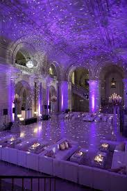 diy wedding reception lighting. Soma Sengupta Indian Bridal Decoration White Marble U0026 Purple Lights A DanceFloor Of Elegance Diy Wedding Reception Lighting D