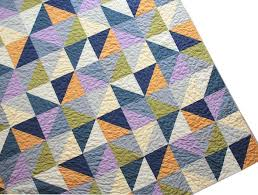 19 best Solid Color Quilts images on Pinterest | Ad home, Book and ... & Modern Patchwork Queen Bed Quilt - Half-Square Triangles - by Pippa Quilts Adamdwight.com