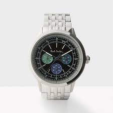 new watch collection for aw15 paul smith men s black and silver precision watch