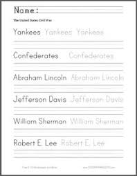 civil war spelling and writing worksheet free to print pdf file for