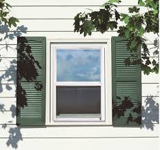 white window with green shutters