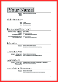 Simple Resume Format A Simple Resume Sample Simple Resume Format