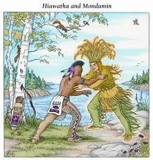 tell me a story hiawatha and mondamin a native american legend