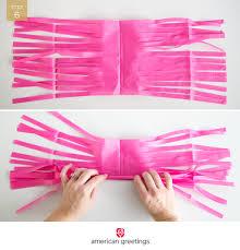 tissue paper garland diy