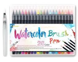 Watercolor Brush Set Spin Travel Brushes Watercolor Brush Set