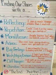 ending a bang anchor chart for our th grade realistic ending a bang anchor chart for our 4th grade realistic fiction writing unit