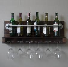 great wall mounted stemware rack ideas